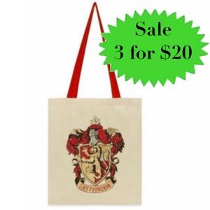 HARRY POTTER canvas tote bag gryffindor shopping